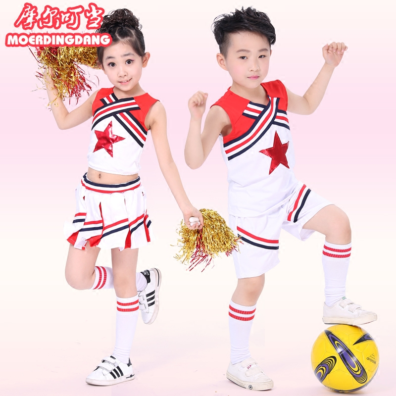 kinderen cheerleading sport rok pak kostuums uitvoering voor meisje en jongen 100cm-160cm
