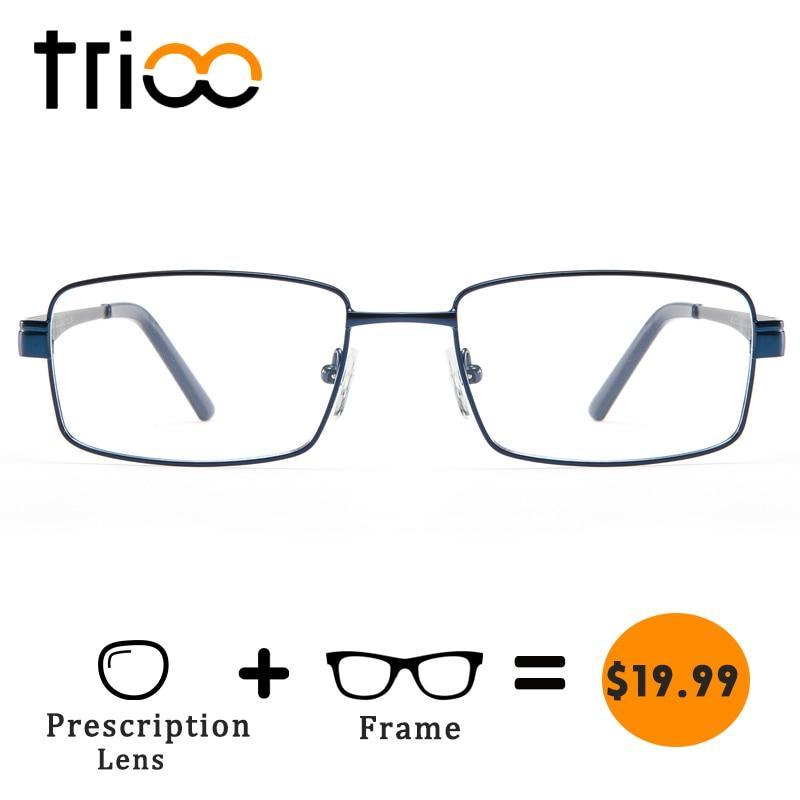 Trioo prescripción Gafas hombres miopía ordenador ojo Gafas acetato ...