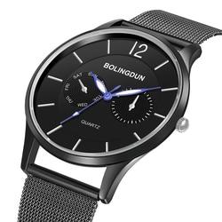 2020 Ultra Thin 30M Waterproof Fashion Men Watch Stainless Steel Minimalist Watches Women's Watches Lover's Quartz Reloj Hombre