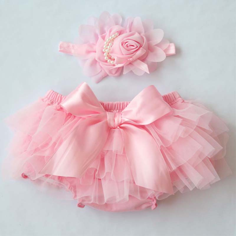 Baby Cotton Panties Cute Chiffon Bloomers Kids Panty Diaper Cover Bowknot   Shorts   Newborn Toddler Baby Clothes Free Baby Headband