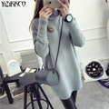 Yizikkco marca mulher camisolas pullovers 2016 new outono inverno mulheres camisola de malha pullover puxar femme mujer sweter whd243