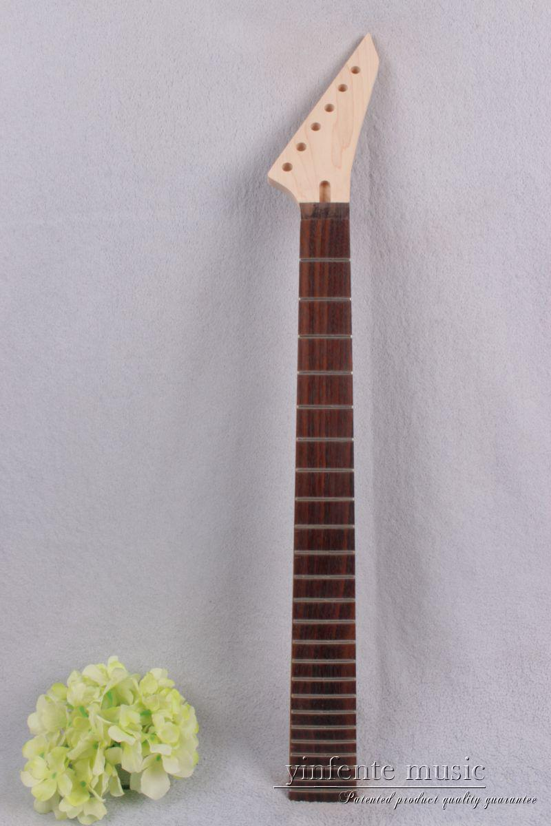 New Electric Guitar Neck Maple Rosewood No Inlaid 24 fret 25.5 inch Left #753 new electric guitar neck maple 24 fret 25 5 truss rod unfinished no frets nice