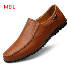 Man Shoes Leather Genuine Mens Loafers Leather Italy Luxury Brand Men Loafers Leather Shoes Men Mocassins Boat Shoes Big Size 47