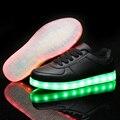 Привело обувь для взрослых Мода Свет Повседневная Обувь 8 Цвета открытый Светящиеся Мужчины черный белый светодиод световой обувь плюс размер 35-46