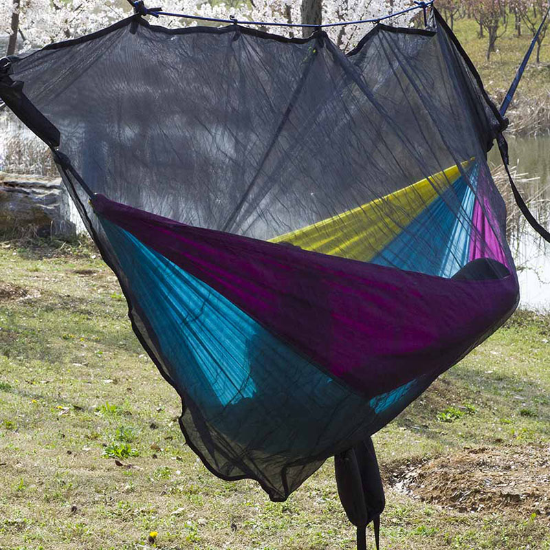 Image 2 - Hammock Bug Net Ultralight Mosquito Net Outdoor Camping Hammocks Netting 325*140 CM With Small Stuff Sack Weight 0.88 LBS NEW-in Hammocks from Furniture