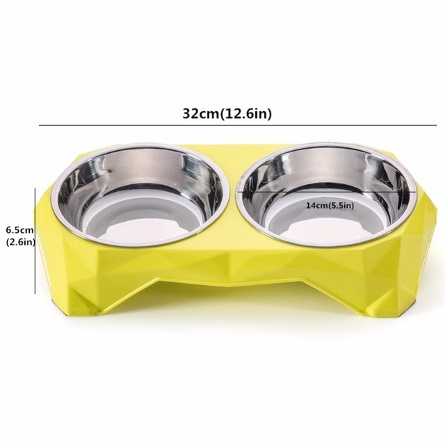 Dual Sections Pet Dog Bowl Food