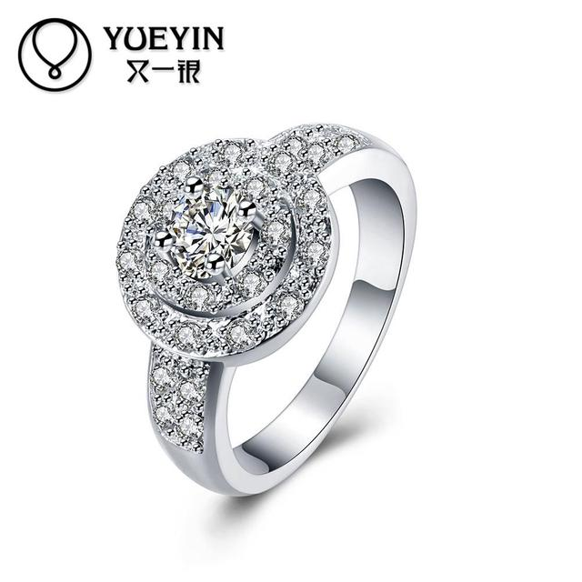 Female Finger Rings Silver Plated Jewelry Wedding Ring Clic Cute Supplier Original