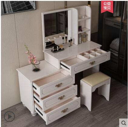 US $280.0 20% OFF|Jane Europe dressing table bedroom multi functional  princess economy 60 small family mini assembly dresser.-in Dressers from ...