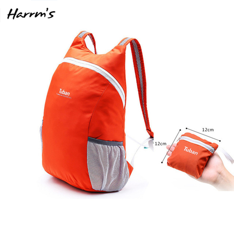 High Quality 8 Color Lightweight Nylon Foldable Backpack Waterproof Backpack Portable Pack For Women Men Travel Shoulder Bags(China)
