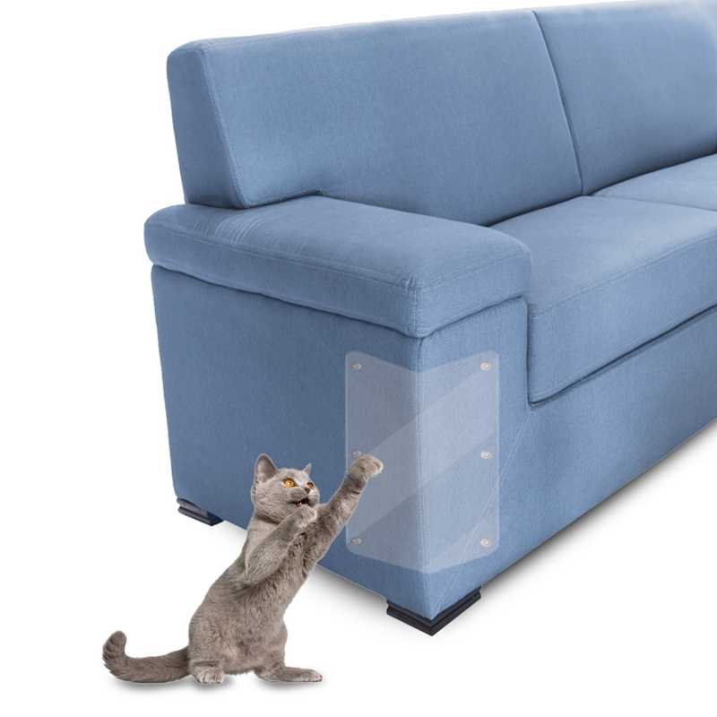 WHISM Flexible Sofa Corner Protective Film No Cat Scratch Mark Pliable PVC Sofa Cover Transparent Couch Corner Sticker Slipcover