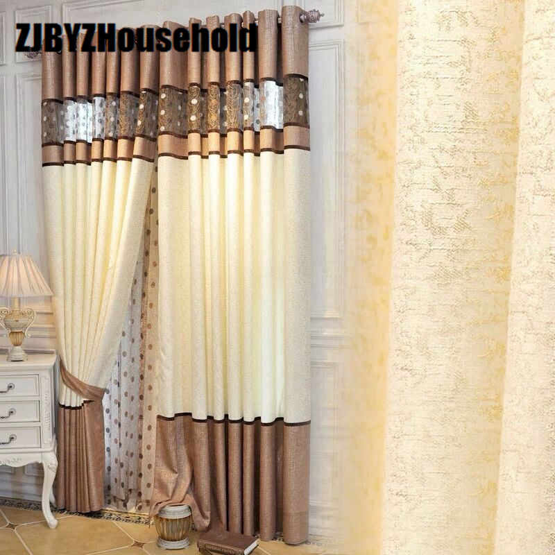2017 New Curtains For Dining Living Bedroom Room chenille stitching modern minimalist shading Bird's Nest Curtain 5