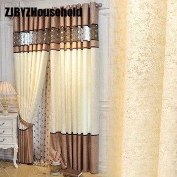 2017 Nuevo Cortinas para comedor salón dormitorio chenille costura ...