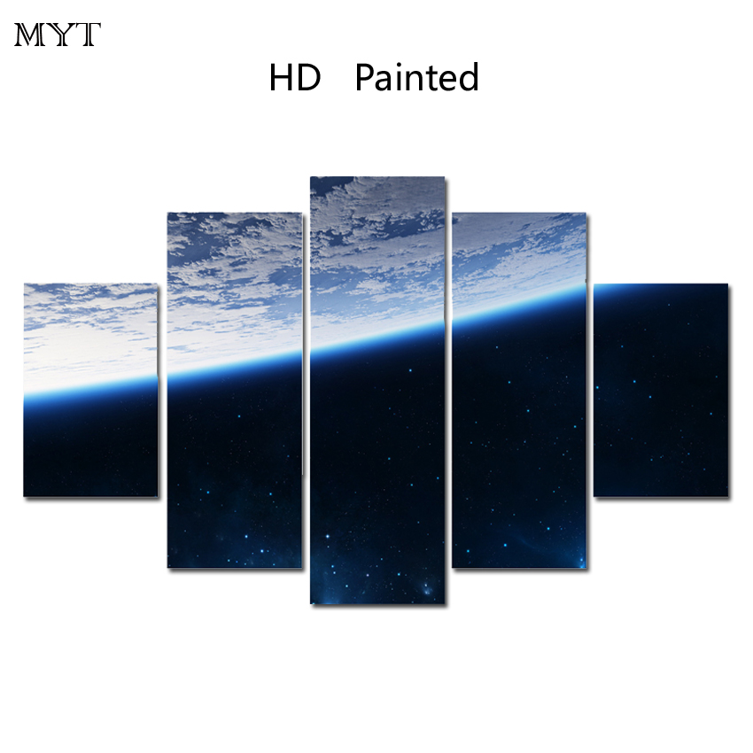 MYT HOT sale Free shipping painting Blue sky home decoration on canvas art wall art pictures printed HD printed picture no frame
