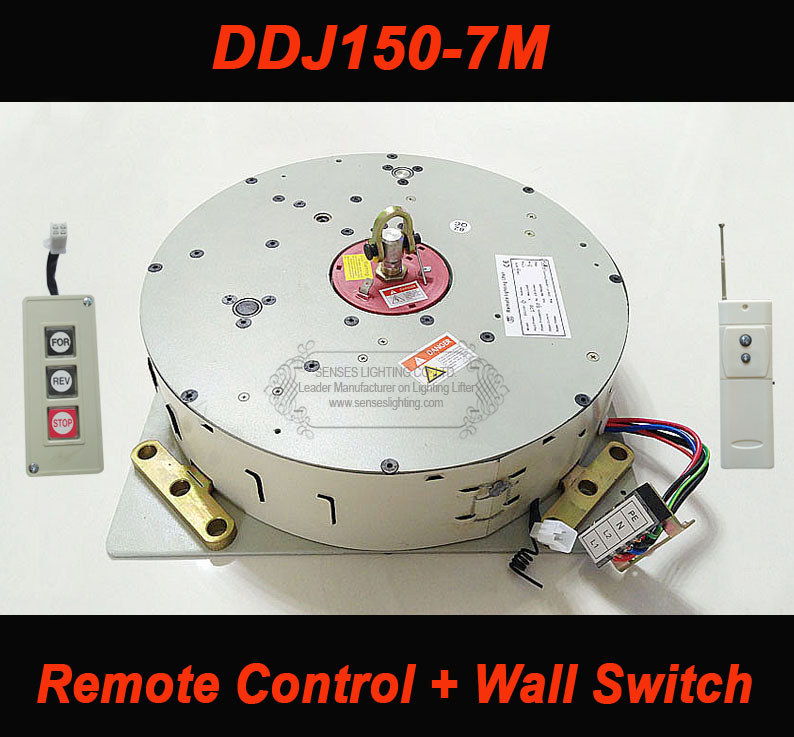 150 kg 7 m filo controlled + hoist remote controlled per chandelier lighting lifter lampadario winch ddj150-7m 110 v-240 v