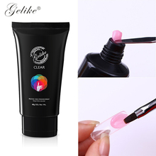 Gelike 60ml Poly Gel Finger Extension Crystal Hot Selling Nail UV LED 3 Colors Can Be Soak Off Varnish