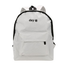 Day Night Embroidery Backpacks 2017 Fashion Women Canvas School Bags For Teenagers Girls Laptop Backpack Travel