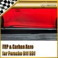 Car-styling For Porsche 911 991 Vor Style Real Carbon Fiber Side Skirt