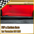 Carro-styling Para Porsche 911 991 Vor Estilo Real Fibra De Carbono Side Skirt