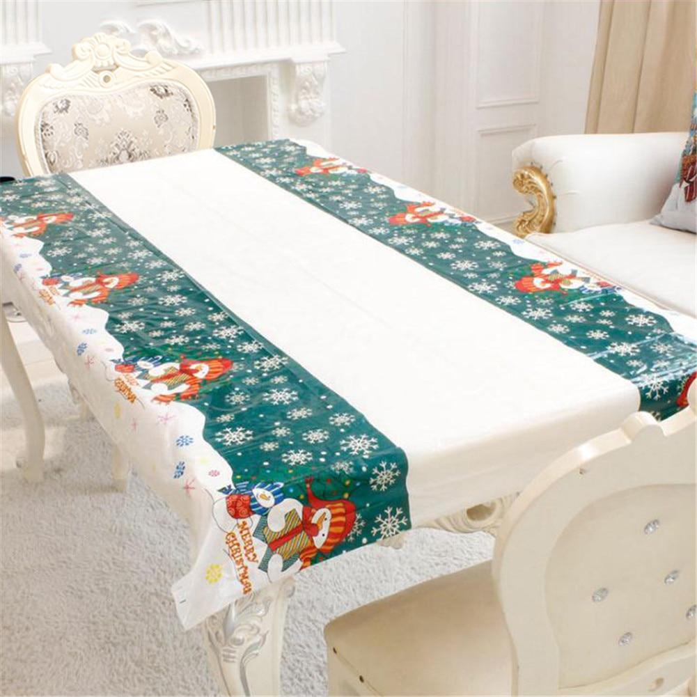 Disposable Christmas Tablecloth Table Cloth Theme Kids Birthday ...