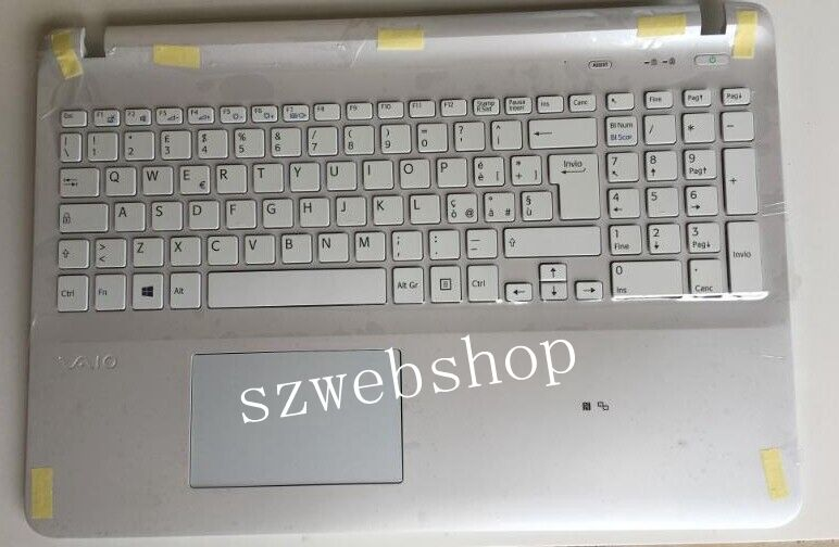 New for Sony VAIO SVF1521T2EB SVF1521P2EB SVF1521D2EB SVF1521C2EB SVF1521V2CW palmrest IT / Italian keyboard white No Backlit  цены онлайн