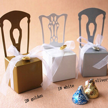 50pcs Chair Design Laser Cut Wedding Favor Boxes Candy Box Favors And Gifts with Ribbon Baby Shower Event amp Party Supplies cheap BOOKLOVEMW CN(Origin) Paperboard Architecture TGH2016036 Birthday Party Wedding Engagement Valentine s Day Pearlescent paper
