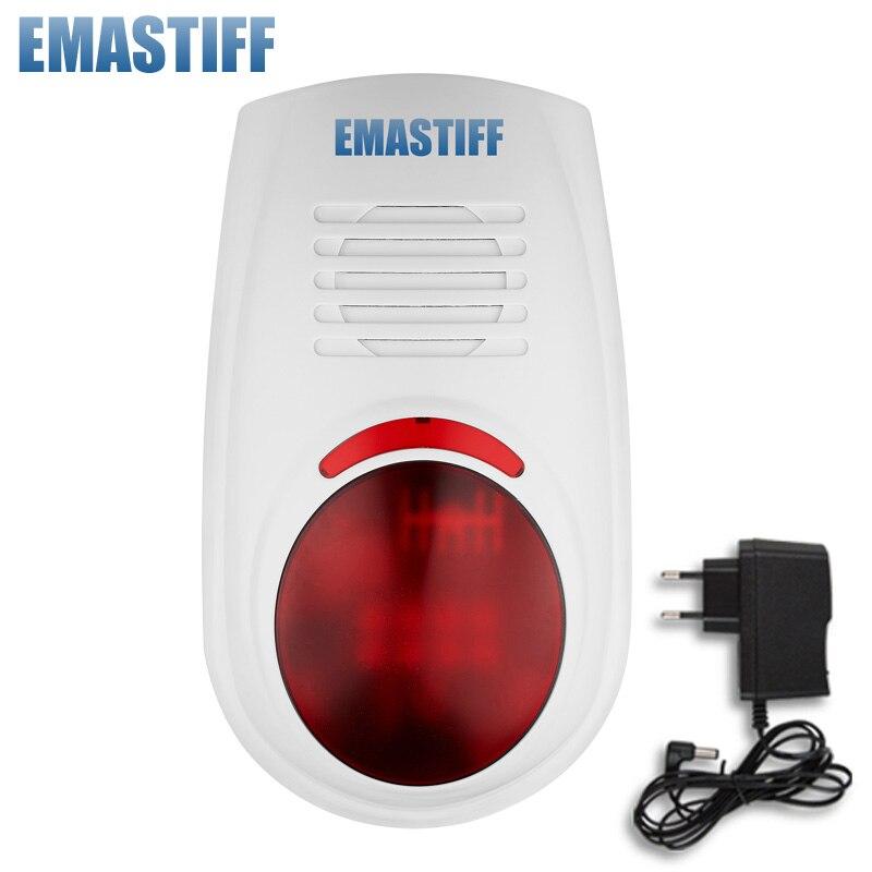 imágenes para Envío libre! Wireless Flash Estroboscópico Sirena impermeable Al Aire Libre Luz Roja 100dB 315 MHz Sólo Para Nuestro GSM PSTN seguridad Sistema de alarma
