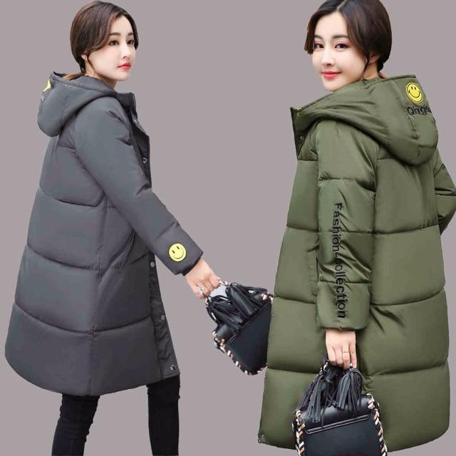 4b685133b € 29.38 |Thoshine marca 2018 primavera Otoño Invierno mujeres moda Parkas  ropa de abrigo mujer Chaquetas abrigadas ropa térmica a prueba de viento ...