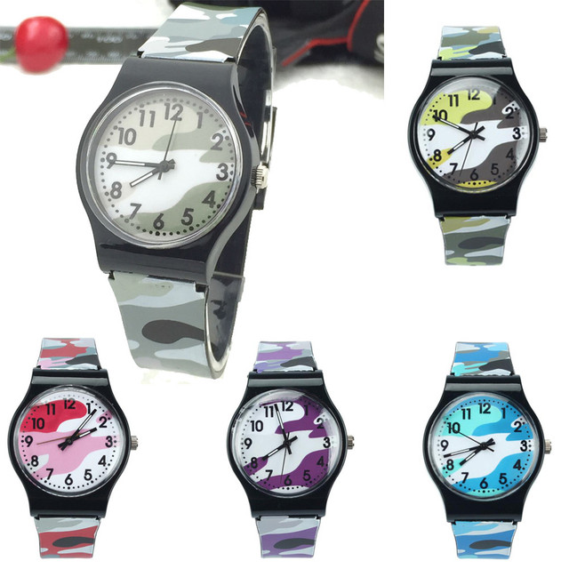 fashion new Camouflage Children Watch Quartz Wristwatch For Girls Boy Reloj Mujer 2018 Relogio Feminino kol saati student clock