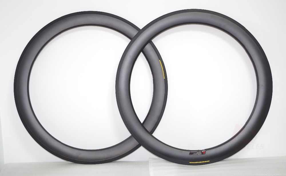420g Tubeless ready 700c 50mm jante de vélo de route pneu en carbone UD mat jantes de vélo 25mm de large en forme de U 16 18 20 21 24 28 trous