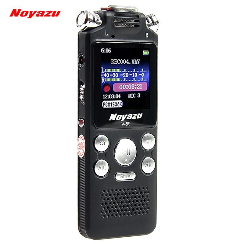 NOYAZU D'origine V59 Charge Rapide 8 GB/560hrs Capacité D'enregistrement Vocal Numérique Enregistreur Bruit Réduction Dictaphone Mp3