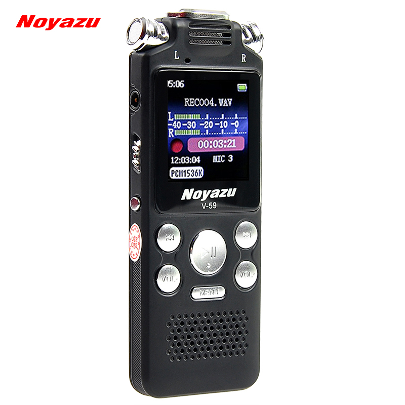 NOYAZU Original V59 Fast Charging 8G/560hrs Recording Capacity Digital Voice Recorder Noise Reduction Dictaphone Mp3, A-B Repeat юбка finn flare finn flare mp002xw0rssd