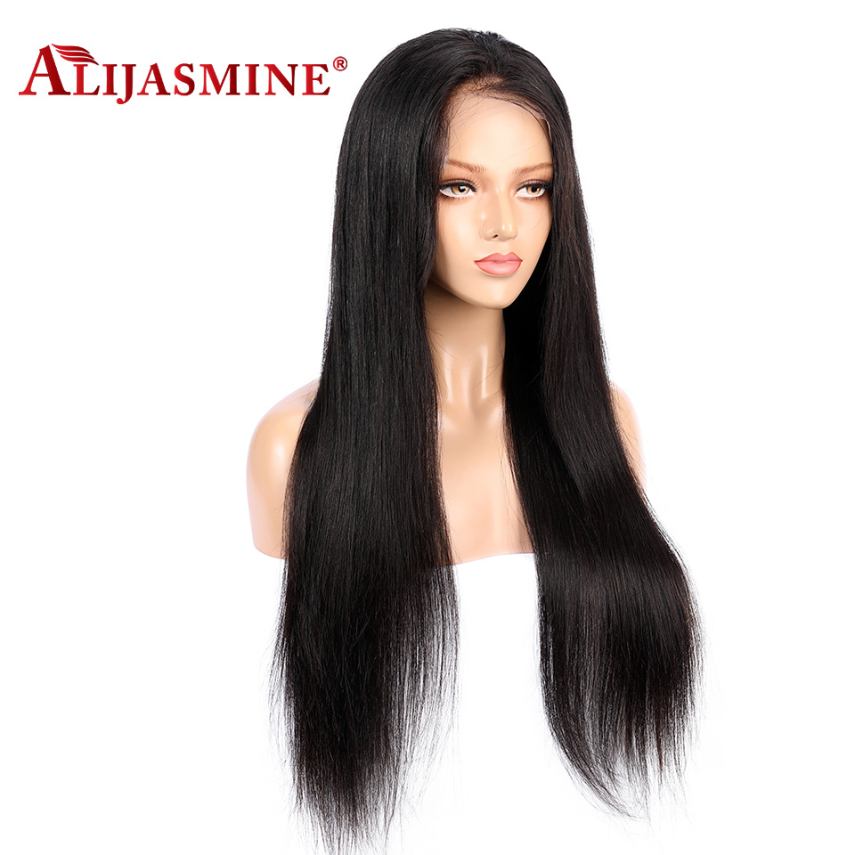 Transparent Lace Color Straight Full Lace Wigs Human Hair Pre Plucked Hairline Brazilian Remy Lace Wig