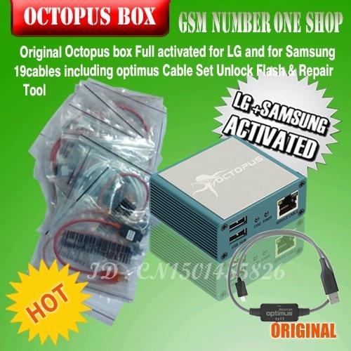 imágenes para Octopus box activada completo para lg y para samsung 19 cables incluyendo optimus cable de desbloqueo de flash & repair tool + free gratis