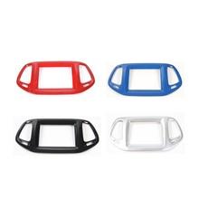 MOPAI ABS 8,4 cm GPS на приборной панели украшения кадр покрытие для интерьера наклейки для Jeep Compass 2017 до стайлинга автомобилей