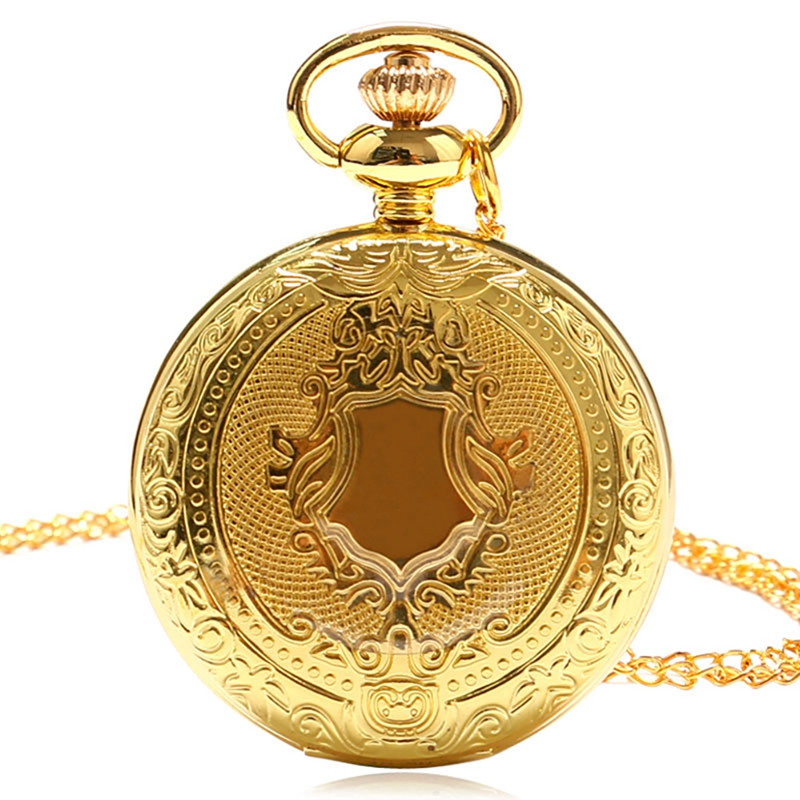 Steampunk Vintage Men Women Quartz Pocket Watches With Necklace Pendant Silver Golden Clock Reloj De Bolsillo Gifts