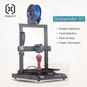 2019 New 3D Printer Sidewinder X1 SW-X1 300x300x400mm Large Plus Size High Precision Dual Z axis TFT Touch Screen(China)