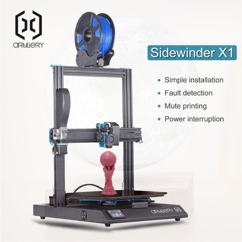 2019 Nova Impressora 3D Sidewinder X1 SW-X1 300x300x400mm Grande Plus Size Alta Precisão Dupla Z eixo Tela Sensível Ao Toque TFT