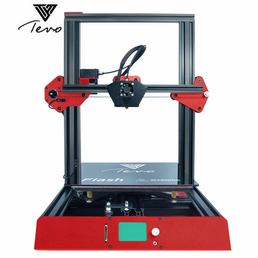 Original TEVO Flash 3D imprimante Aluminium Extrusion 3D imprimante kit 3d impression préconstruite 50% sd-kaart Titan extrudeuse FDM