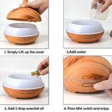Sophisa 300 ml Mist Humidifier Essential Oils Fragrance Fresh Air Diffuser for Office for Home Bedroom Living Room Fresh Air SP300C-Y