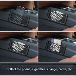 Image 4 - Car Mesh Net Bag Car Organizer Universal Storage Net Holder Pocket for BMW E46 Creative Sundry Mesh Bag Car Styling Accessories