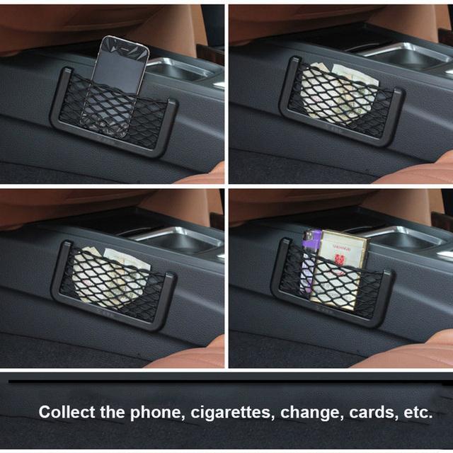 Car Mesh Net Bag Car Organizer Universal Storage Net Holder Pocket for BMW E46 Creative Sundry Mesh Bag Car Styling Accessories