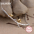 BALMORA 100% Реального Стерлингового Серебра 925 Ювелирные Изделия Кулон Ожерелье для Женщин Девушки Прекрасные Птицы 45 см Звено Цепи Bijoux JLWN80695