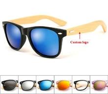 97a6d818e55c0 Atacado Logotipo Personalizado Armas de Bambu Óculos De Sol Dos Homens  Óculos De Sol de Madeira De Madeira Óculos De Sol Das Mul.