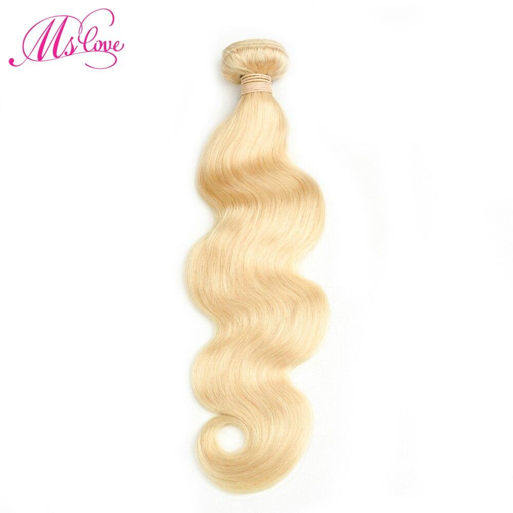 MS любовь 613 блондинка полный цветные бразильские волосы средства ухода за кожей волна Волосы на Трессах 1 шт. не Реми 100% пряди человеческих в...