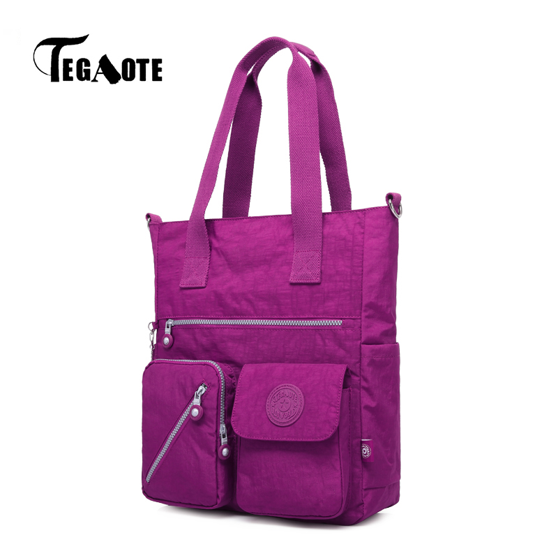 цена TEGAOTE Top-handle Bag Handbags Women Famous Brand Nylon Big Shoulder Beach Bag Casual Tote Female Purse Sac Bolsa Feminia 2017