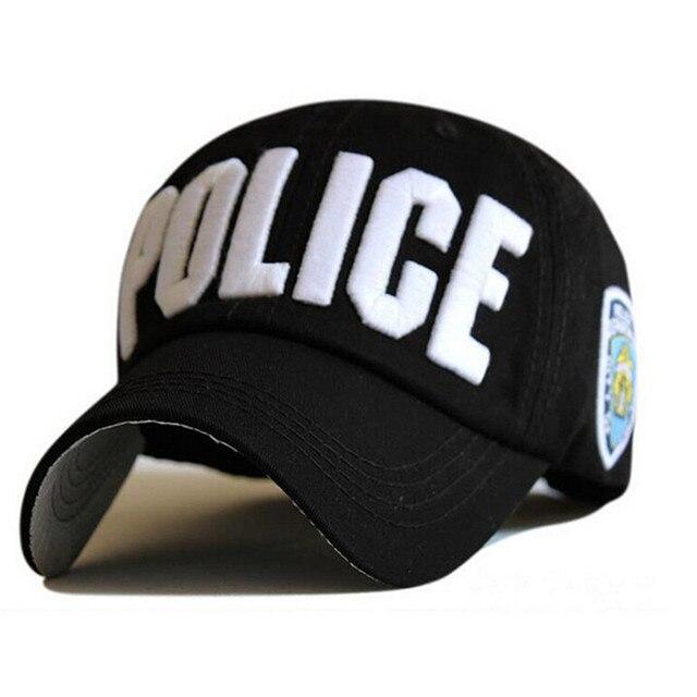 Men s Tactical Cap SWAT Police Baseball Cap Unisex Gorras Snapback Hat  Summer Embroidery Casual Hip Hop Brand Bones Sun Hat a03b7204a8b
