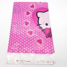1pcs pack Happy Baby Shower Hello Kitty Theme Tablecloth Girls Kids Favors Decoration Tablecover Birthday Party