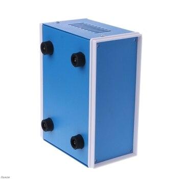 Mavi Metal Muhafaza Proje çantası DIY Bağlantı Kutusu 6.7