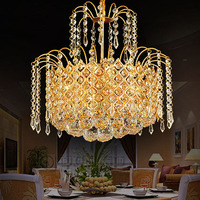 Modern Gold LED European Style Crystal Hanging LampS Dining Room Lamp Bedroom Lamp Study Lamp Living