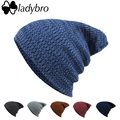 Ladybro Winter Wool Hat Women Men Skullies Cap Knitted Women's Brand Bonnet Beanies Hat Cap For Female Male Baggy Cap bonnet
